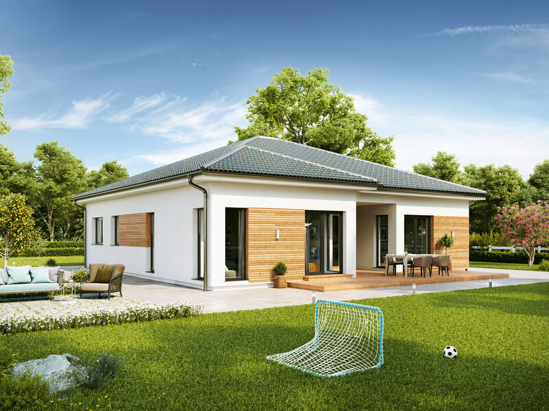 Prefabricated house Familie Oberrauner (Bungalow AT129)