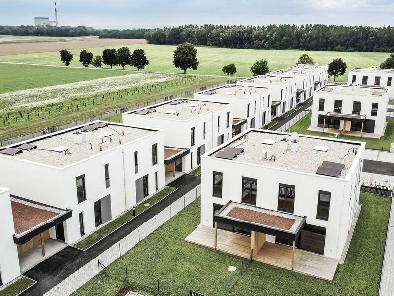 Prefabricated house Doppelhausanlage Zwentendorf