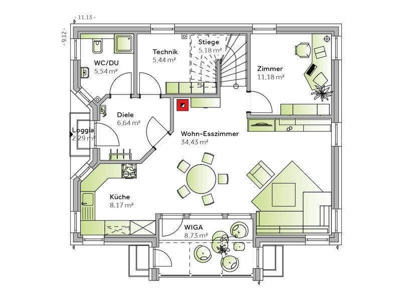 Casa prefabbricata in legno Familie Rainer (Family IV)