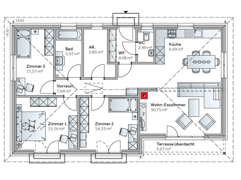 Casa prefabbricata in legno Familie Jelinek (Family VII)