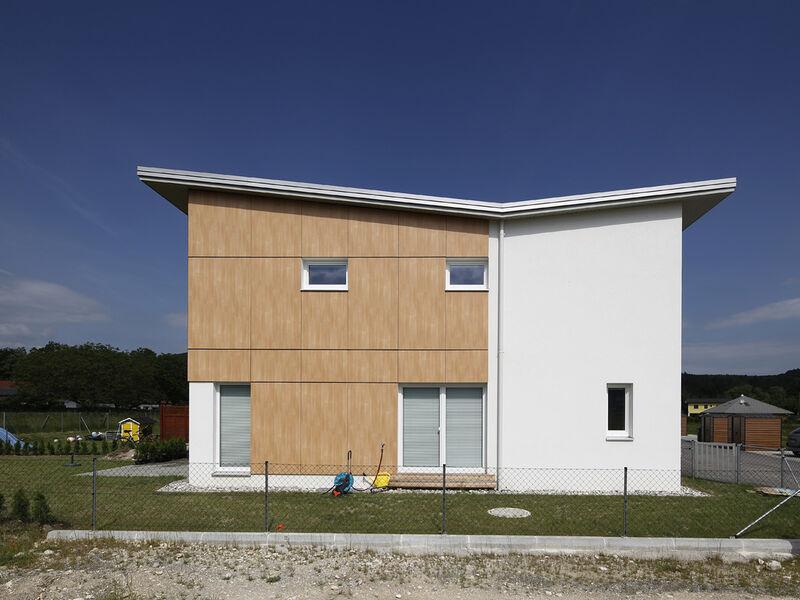 Fertighaus Niedrigenergie-Wohnhausanlage