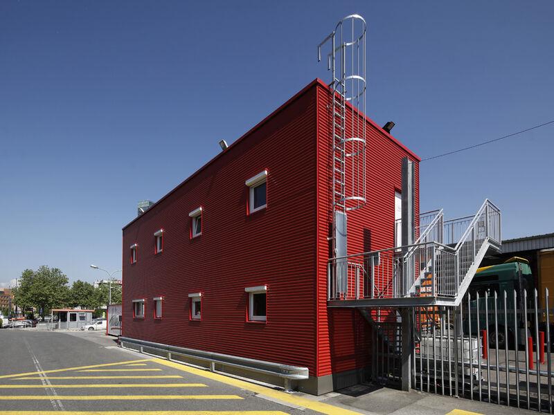 Fertighaus Niedrigenergie Bürogebäude Coca Cola