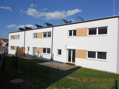 Prefabricated house Niedrigenergie Reihenhausanlage