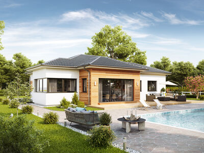 Prefabricated house Musterhaus Bungalow S141