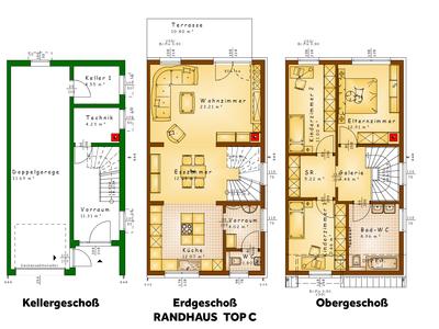 Grundrisse TOP C (Randhaus)