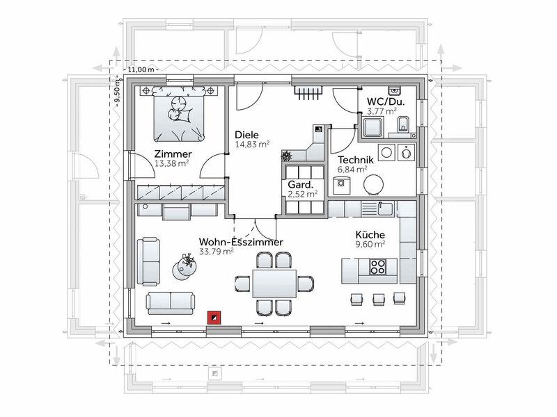 Bungalow Grundriss VARIO-HAUS New Design V