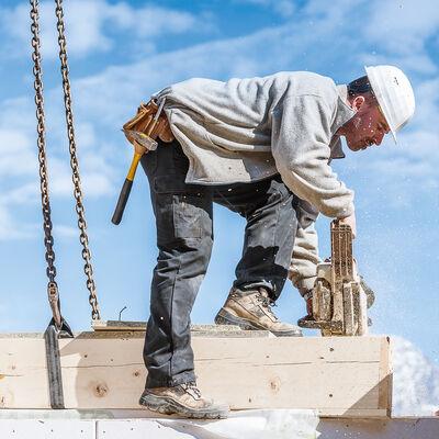 Haus bauen Schritte Nummer 4: Montage