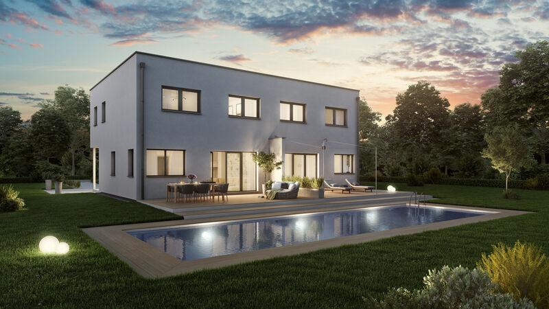 VARIO-HAUS Fertighaus Duplex D113 S