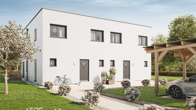 VARIO-HAUS Fertighaus Duplex D124