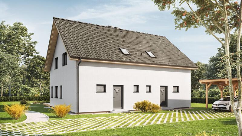 VARIO-HAUS Fertighaus Duplex D97